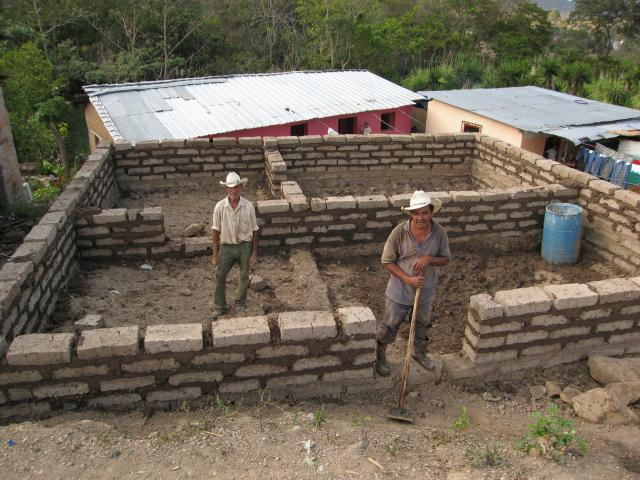 Building A House Out Of Adobe Mud Blocks