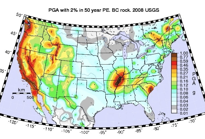 Mapping Earthquake Risks At US Nuclear Power Plants Climate Central - Map nuclear power plants in us